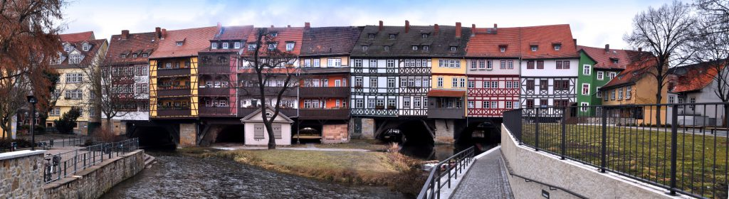 Erfurt Panorama Fachwerk