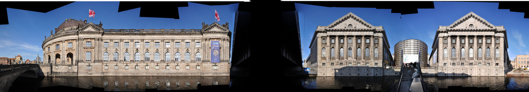 Berlin Museumsinsel Strassenpanorama an der Spree
