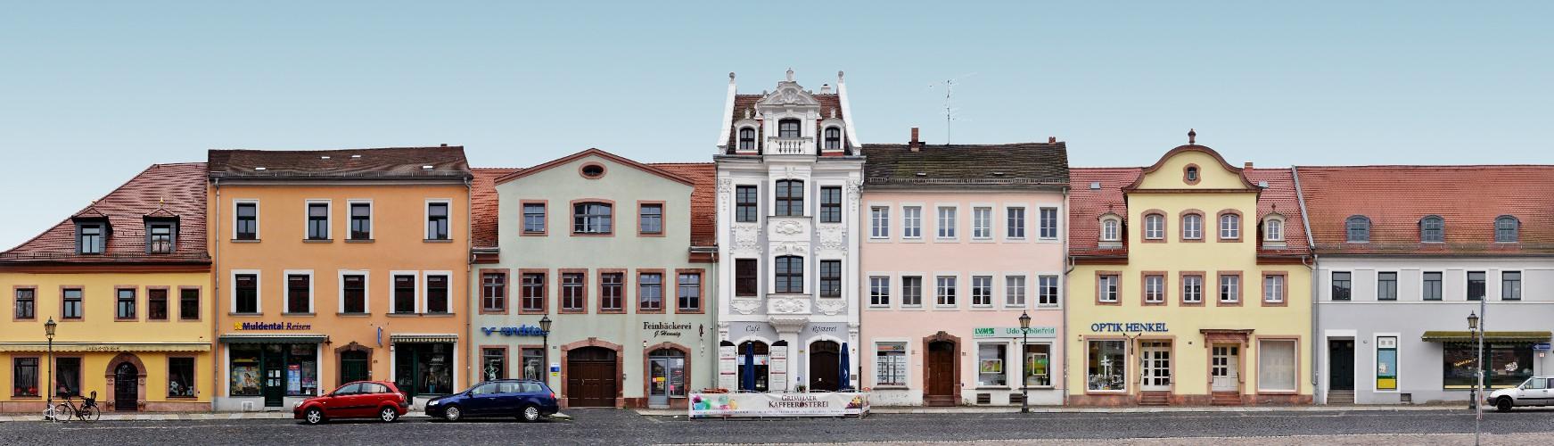 Grimma Markt Häuserzeile