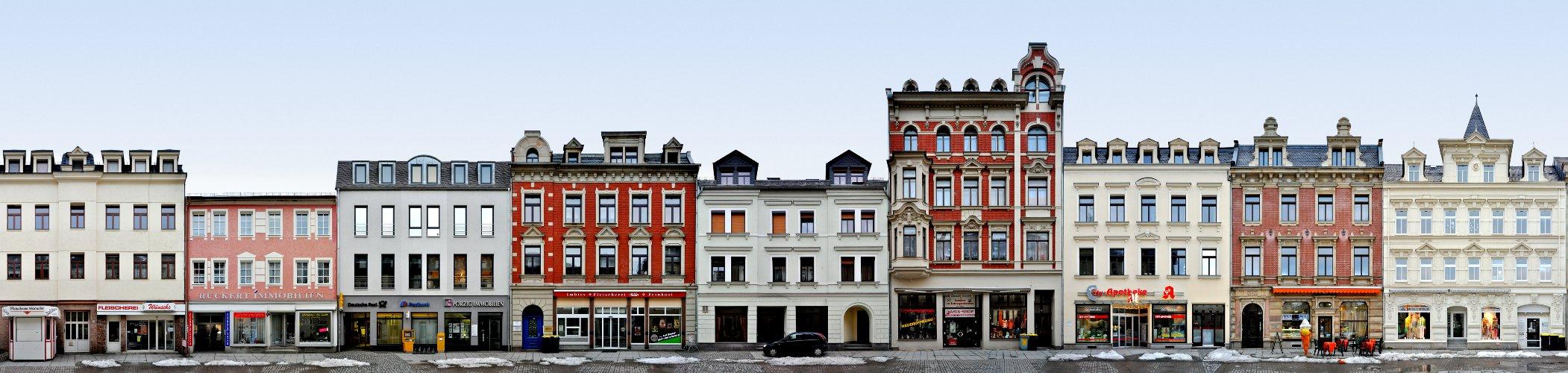 Crimmitschau Architektur Markt Fassade