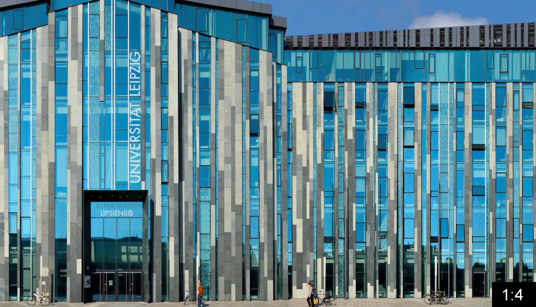 Augustusplatz University Leipzig Panoramastreetline