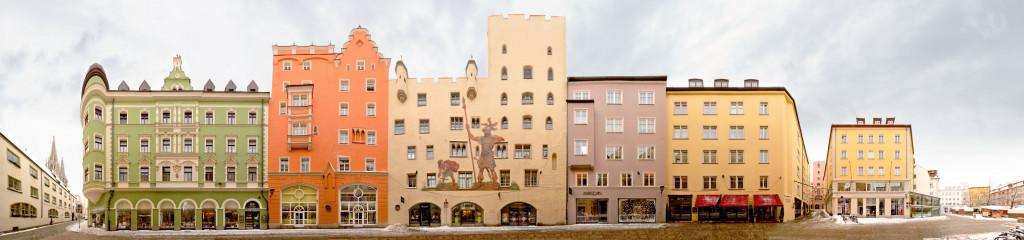 Ratisbon Goliathhaus Bavaria Panorama