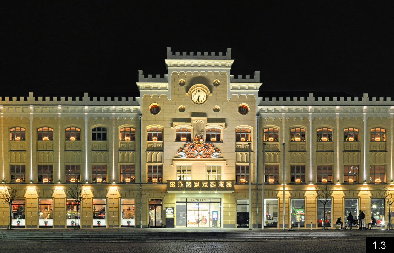 Gewandhaus Town Hall Hauptmarkt Panoramastreetline
