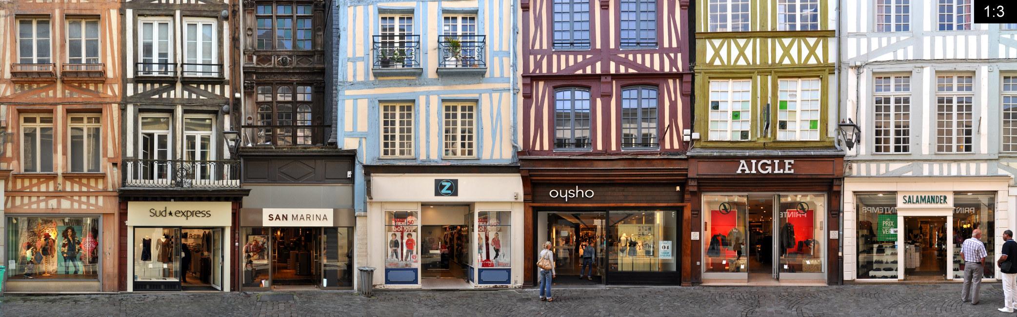Panoramastreetline Rue Du Rue Horloge Gros Du p0q4Fww