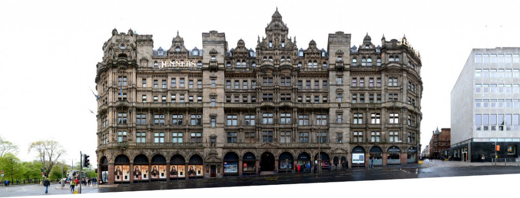 Edinburgh Jenners department Store street front view