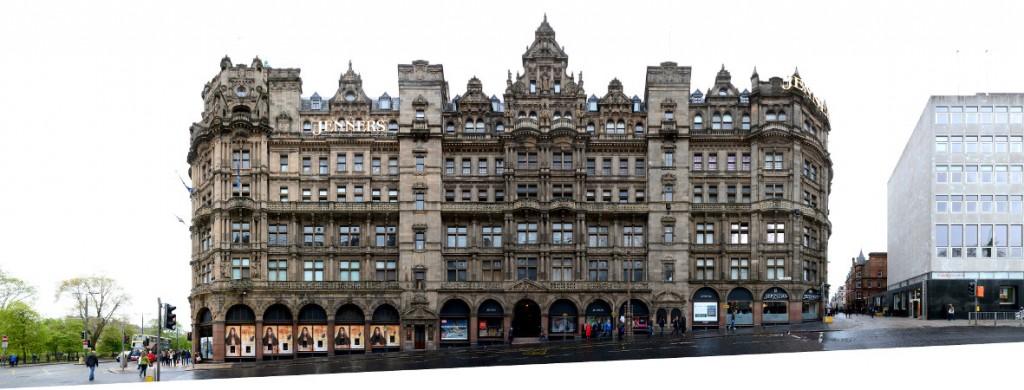 Edinburgh Jenners department Store street front view