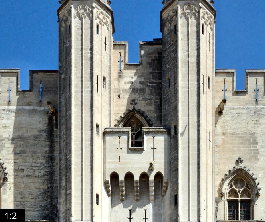 Palais Des Papes Panoramastreetline
