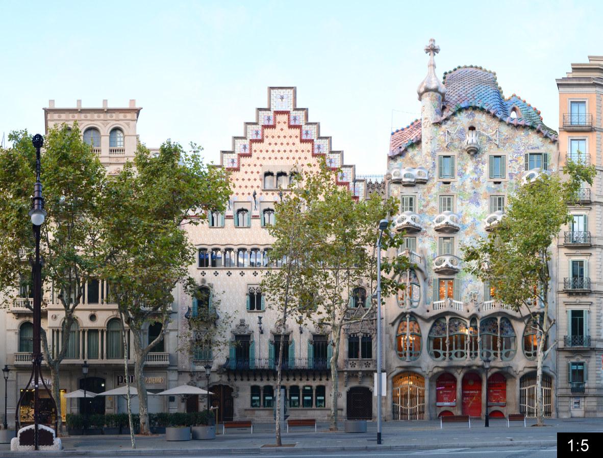 Casa batllo passeig de gracia panoramastreetline for Casas de sofas en barcelona