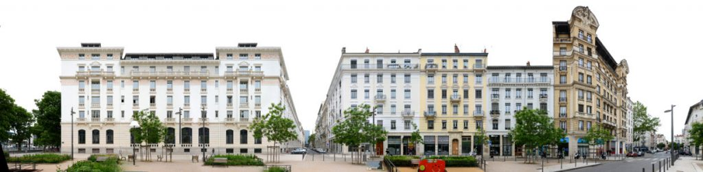 Lyon street panorama
