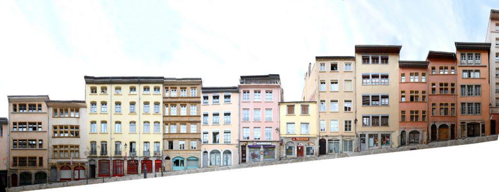 Lyon Croix Rousse Panorama streetscape