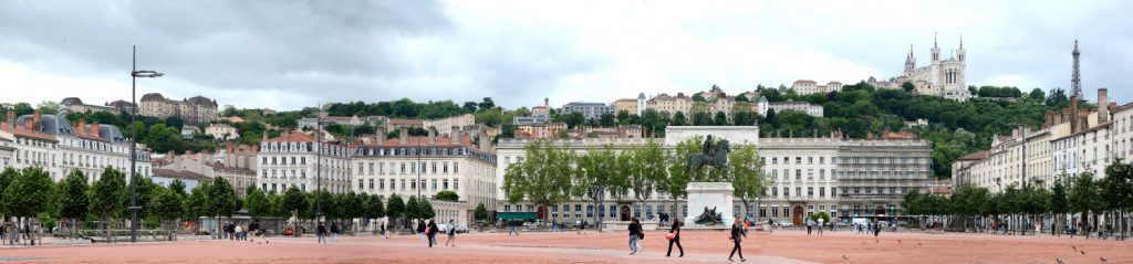 place bellecour lyon panorama