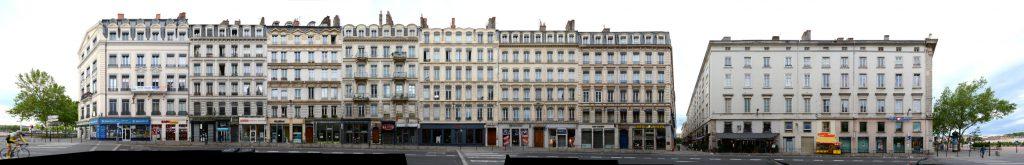 Lyon streetview street front panorama