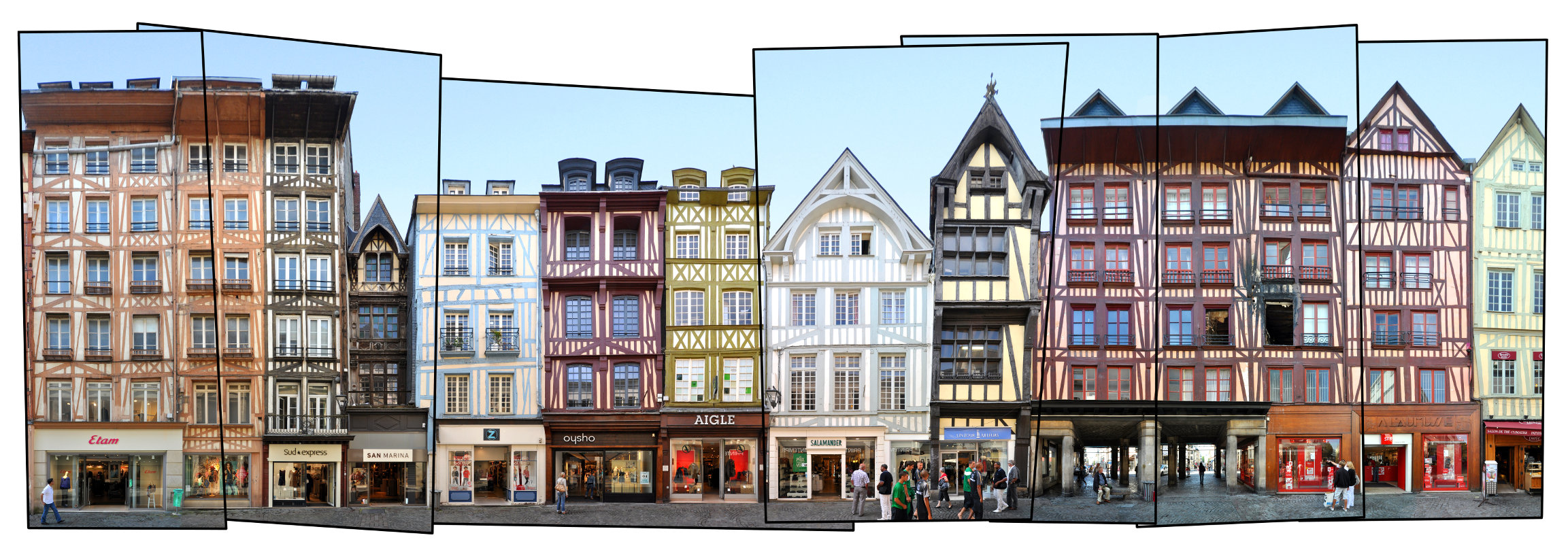 Rouen Architecture Panorama