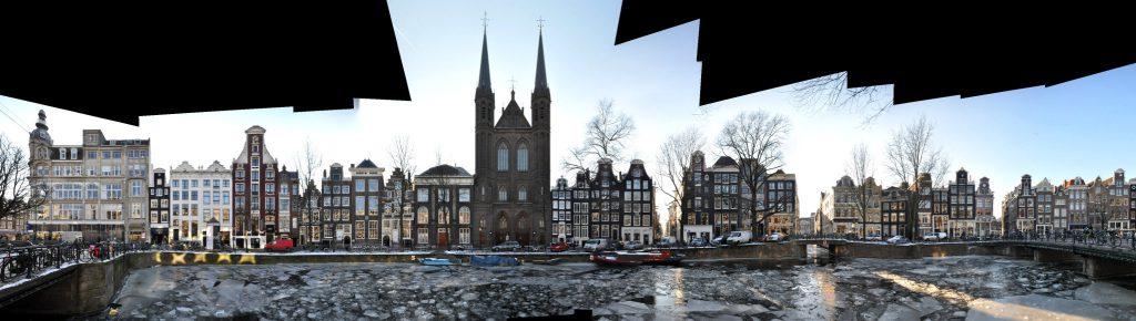 Amsterdam Singel bei Koningsplein Fassade Architektur