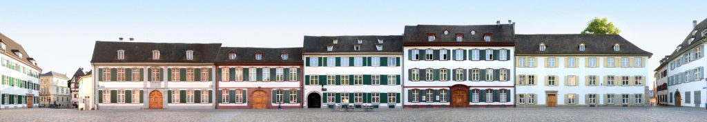 Basle Muensterplatz Panorama Facades