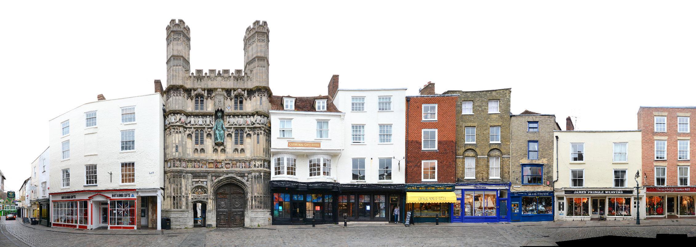 Canterbury England streetview panorama streetline