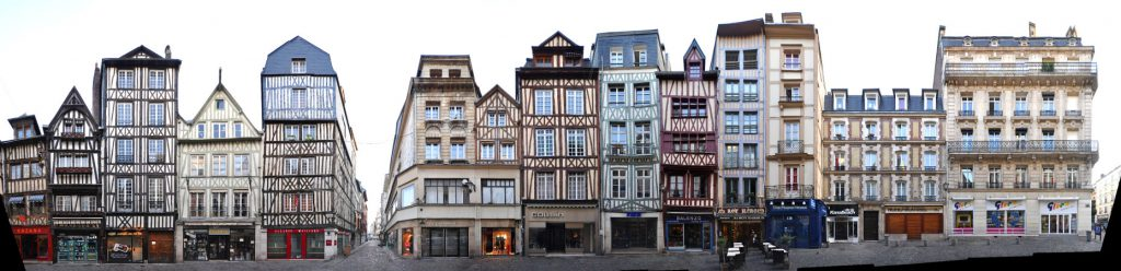 Rouen Fachwerkhäuser Panorama