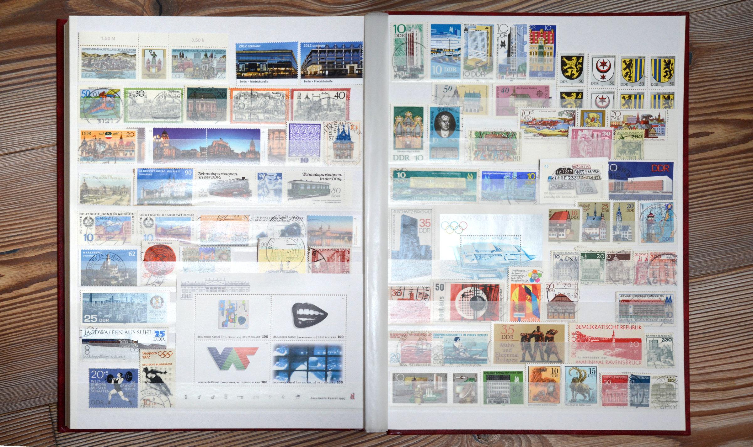 Städte auf Briefmarken Thema DDR BRD