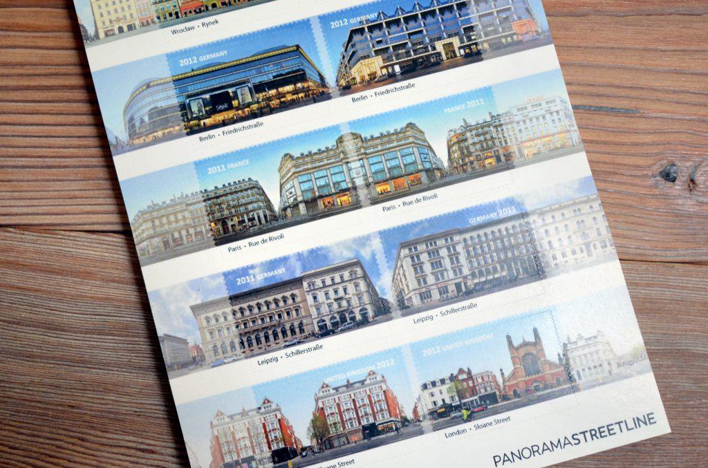 Briefmarken aufkleber Leipzig Berlin London Paris Breslau