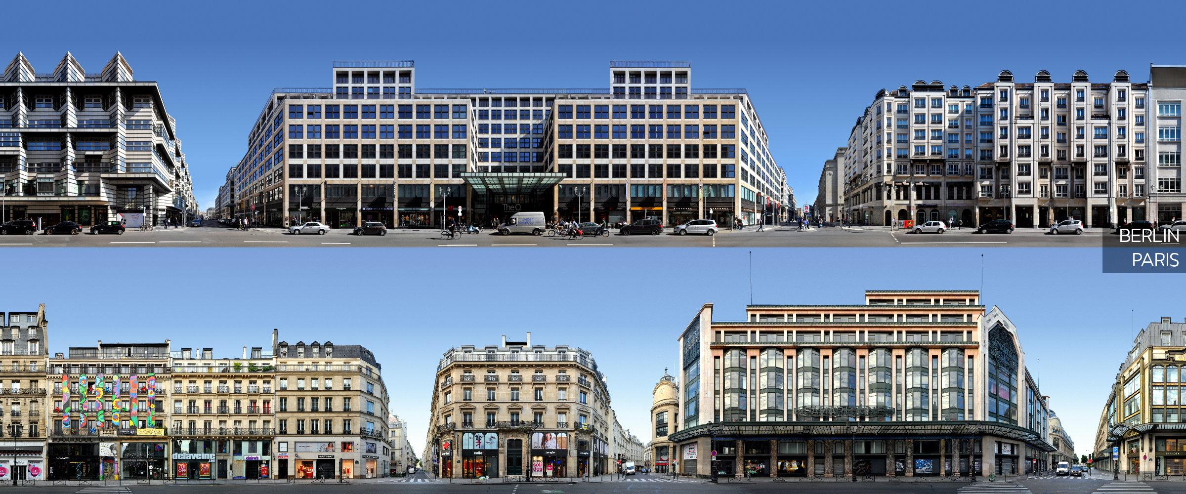Berlin Paris Straßenzug Panorama