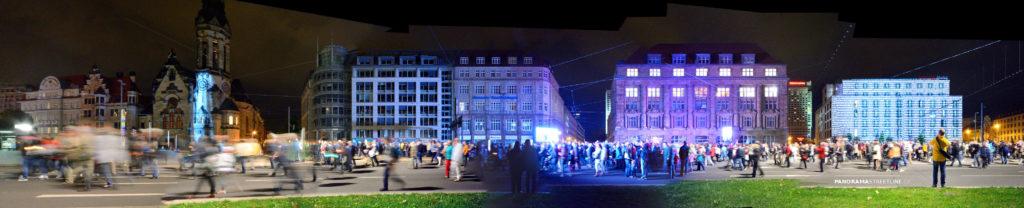 Lichtfest 2014 Tröndlinring in Leipzig, Sachsen, Friedliche Revolution