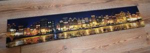 Amsterdam canvas print panorama grachten canal