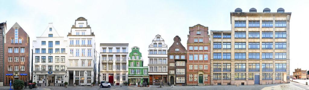 Hamburg Deichstrasse Straßenzug Cityscape Germany