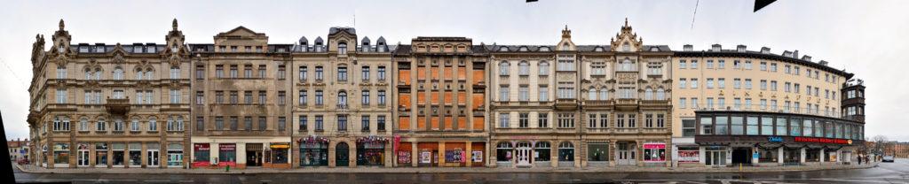 Zwickau Fassaden Schumannstrasse Panorama