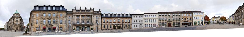 Bayreuth Panorama Opernhaus Opernstrasse Fassade