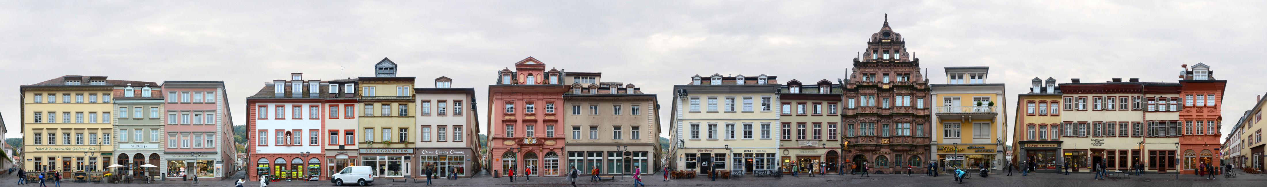 Heidelberg Hauptstrasse Fassaden Abwicklung