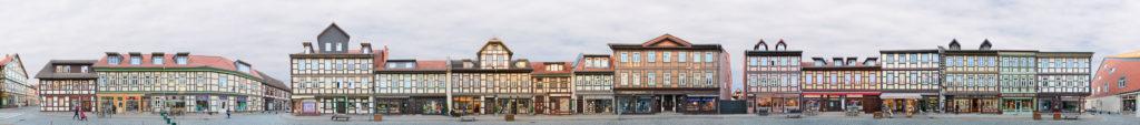 Wernigerode Westernstrasse Fachwerkhäuser Panorama