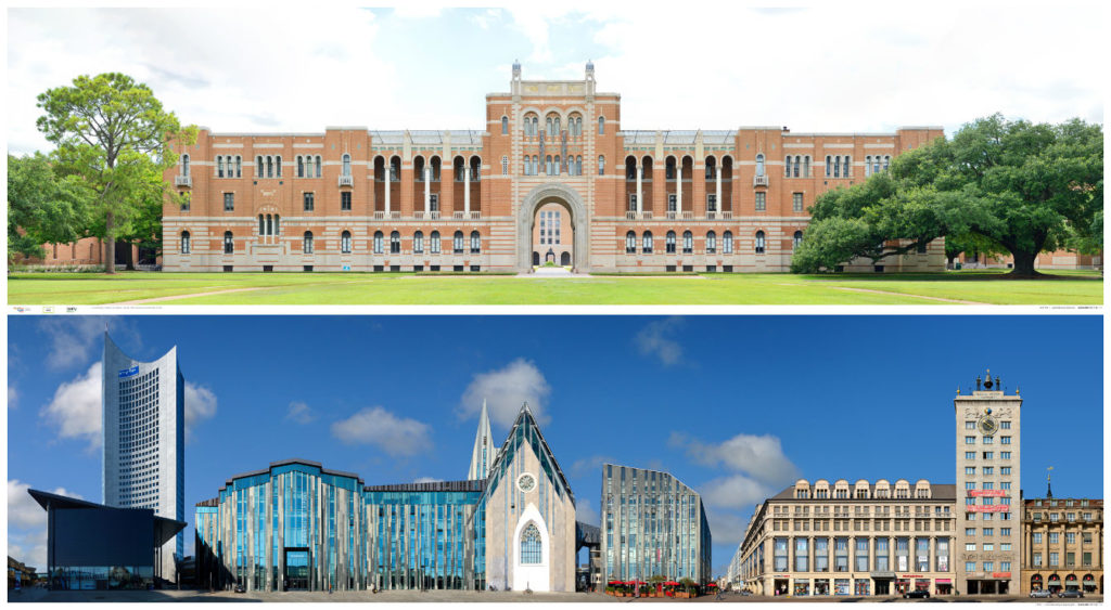 Universitätsgebäude University Buildings in Houston and Leipzig