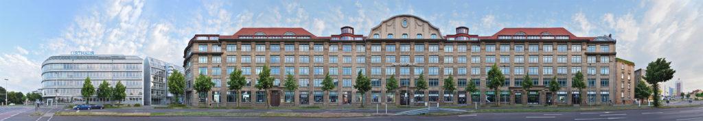 Panorama Leipzig Industriepalast Fassade sachsen, Saxony