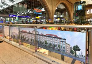 Industriepalast Leipzig Panorama im Hauptbahnhof, Werbung Präsentation