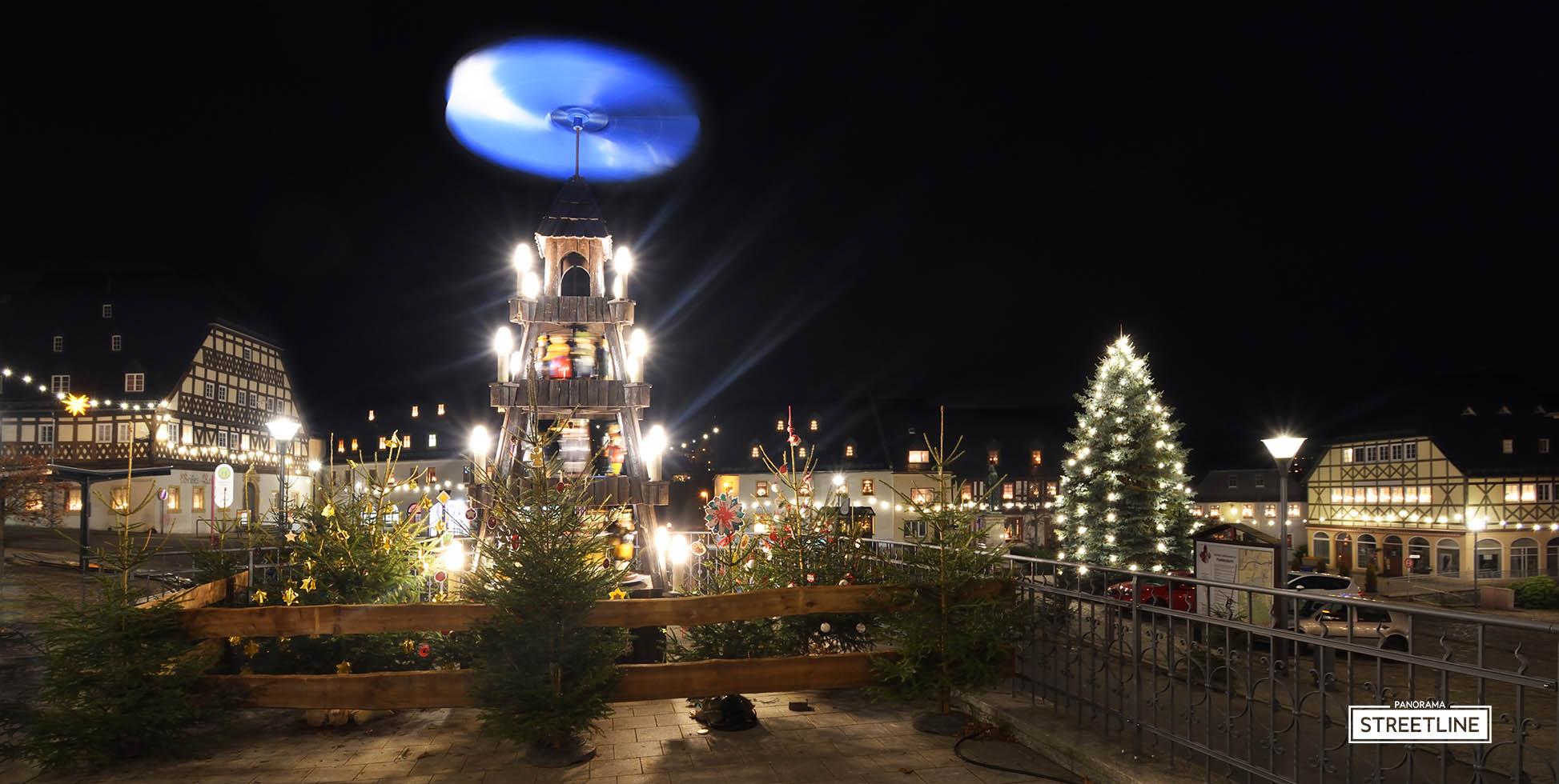 Hartenstein Sachsen Markt Stadtansicht Weihnachten - So geht Sächsisch