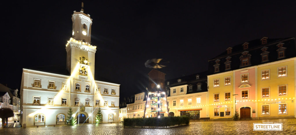 Schneeberg Town Hall Saxony Christmas Market