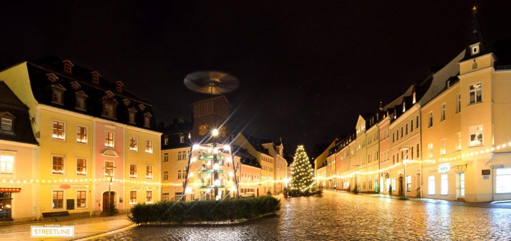 Schneeberg Markt Weihnachtsmärkte Pyramide Erzgebirge Stadtansicht Corona 2020