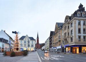 Aue Weihnachtspyramide Sachsen Erzgebirge