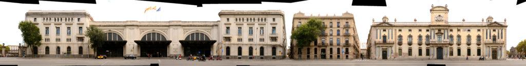 Barcelona Bahnhof Spanien Katalonien Architektur Panorama