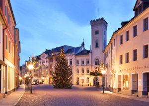 Greiz Weihnachtsmarkt Rathaus Town Hall Christmas Tree