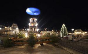 Hartenstein bei Zwickau, Marktplatz zu Weihnachten mit Fachwerkhäusern
