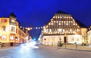 Hartenstein bei Zwickau Fachwerkhaus Weisses Ross Weihnachten 2020