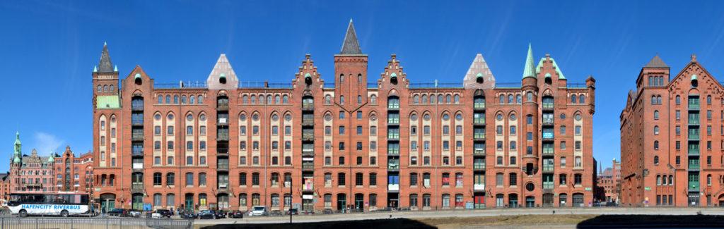 Hamburg Speicherstadt Brooktor Straßenzug Industrie Speichergebäude historisch Deutschland