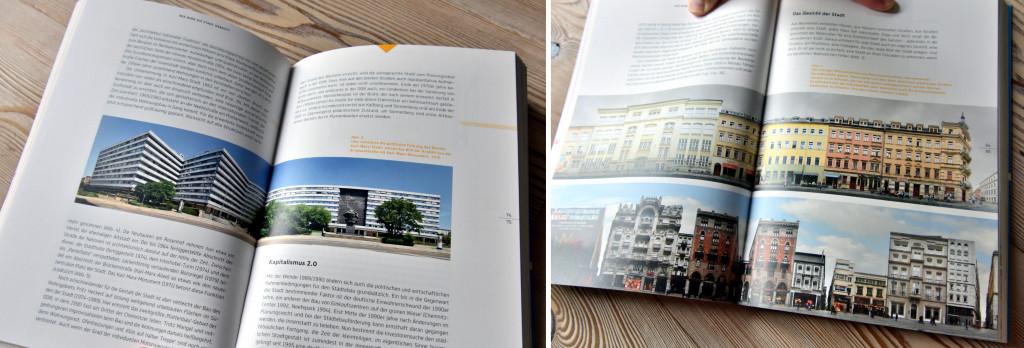Chemnitz Panorama Karl Marx im Buch Streetline Dresden und Istanbul im Buch des SMAC Chemnitz