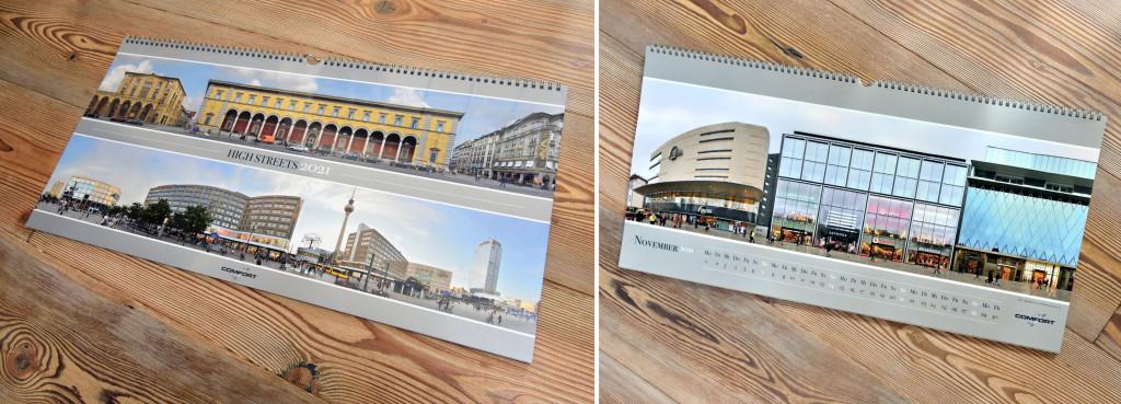 Berlin Munich Frankfurt High Streets Calendar