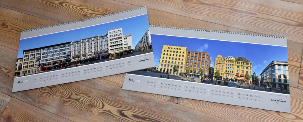 Düsseldorf Stuttgart High Streets Einkaufsstrassen Kalender Foto